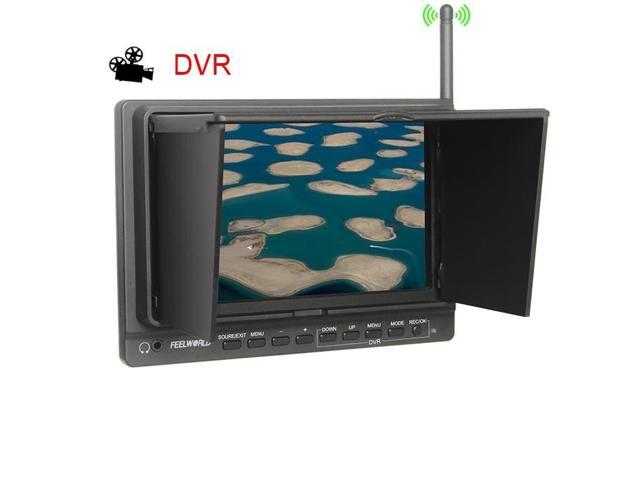 TeKit 7 inch Wireless 5.8GHz RC FPV with DVR 1024x600P HD Monitor Receiver, DVR FPV Monitor