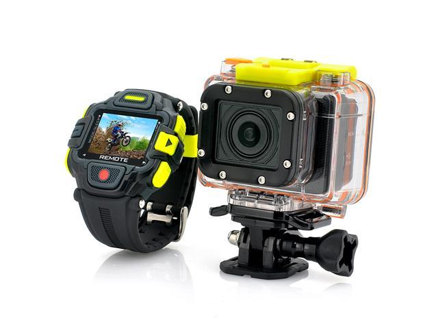 TeKit 1920X1080P Full HD Action Camera with Wi-Fi and Watch Remote Control , Panasonic Sensor, Ultra Wide 145 Degree Lens