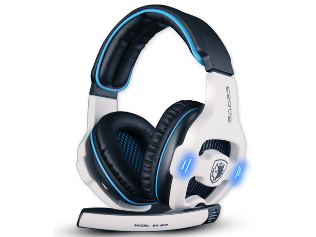 Sades SA-903 Top quality 7.1 channel professional gaming headset usb computer headphone with mic deep bass earphone