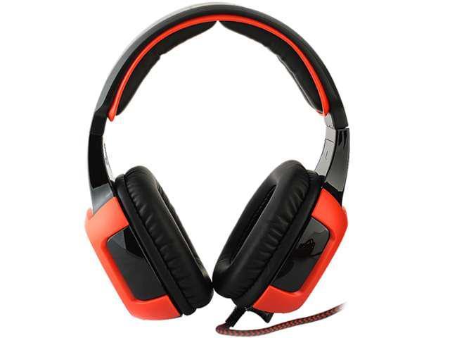 SADES SA-906 USB Connector Circumaural PC Gaming Headset with Micr & Volume Control For WCG