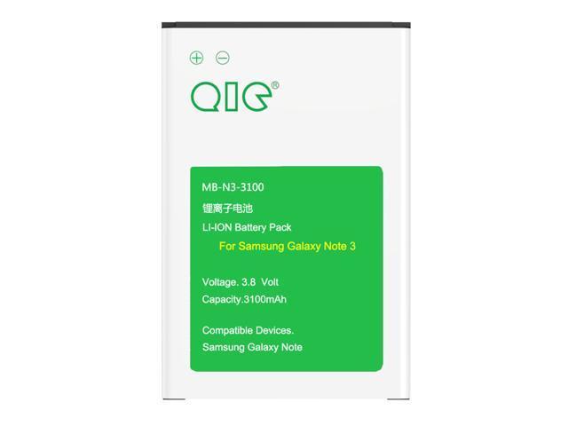 QIC MB-N3-3100 3100mAh Li-ion Batteries for Samsung Galaxy NOTE 3 III, N9005 LTE, N9000, AT&T N900A, Verizon N900V, T-Mobile N900T, Sprint N900P