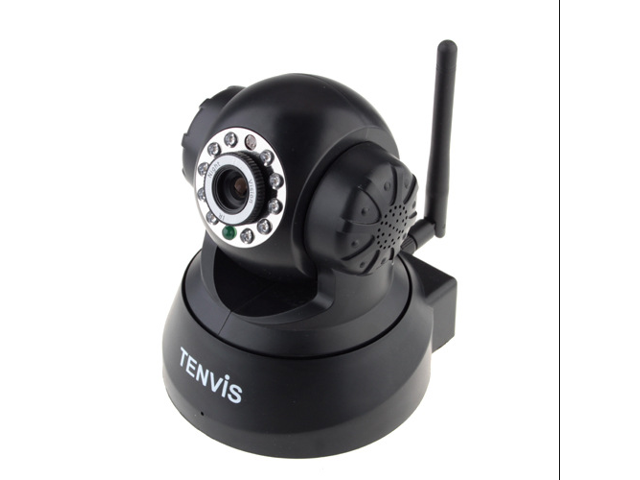 JPT3815W Wireless IP Pan/Tilt/ Night Vision Internet Surveillance Camera Built-in Microphone With Phone remote monitoring support(Black)