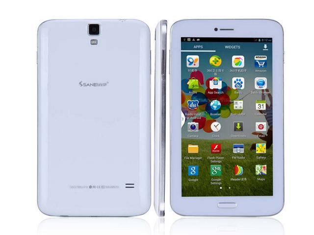 Sanei 3G 6.2 Inch 854*480 IPS MTK8382 Quad Core 2.0MP/5.0MP Cam 512MB/8G GPS Bluetooth Built-in 3G Tablet