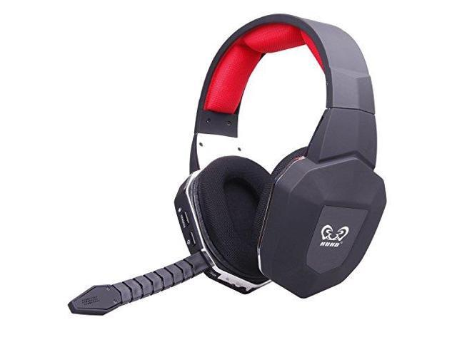 HAMSWAN HUHD 2.4Ghz Optical Wireless Gaming Headset for Xbox One/360, PS4/3, PC, Noise Cancelling, Detachable Microphone