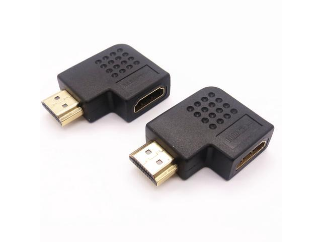 LinkS 270 Degree Vertical Flat Right HDMI Male to Female Adapter(2 Pack)—Ship From US