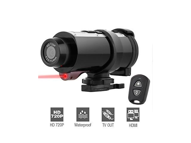 720P HD Waterproof Sports Camera, Action Camera with Remote Control, HDMI and TV Output, Built-in Microphone