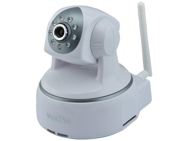 VESKYS N624W 1.0MP 720P HD Wireless IP Network Camera w/ Wi-Fi / night vision /SD Card solt / Mic /Day/Night, 2 Way Audio PTZ IP ...