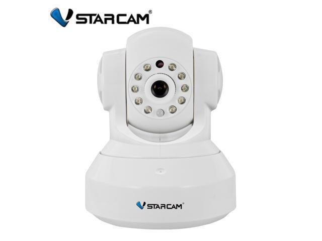 Vstarcam Wifi P2P Plug&Play 640x480 Wireless Pan&Tilt IP Camera with Dual Audio IR Night Vision Support TF memory card Local Storage Monitor Free ...