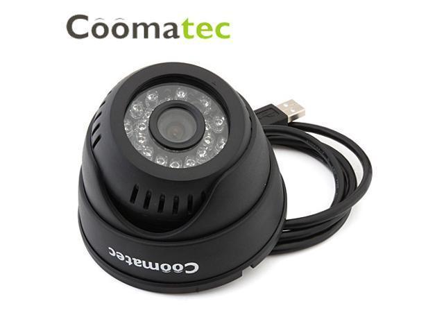 Coomatec DVRCam Dome H.264 Micro SD Card/TF Card Slot DVR CCTV Cam 720P HD 1.0 Megapixels Surveillance Night Vision Camera 1280*720