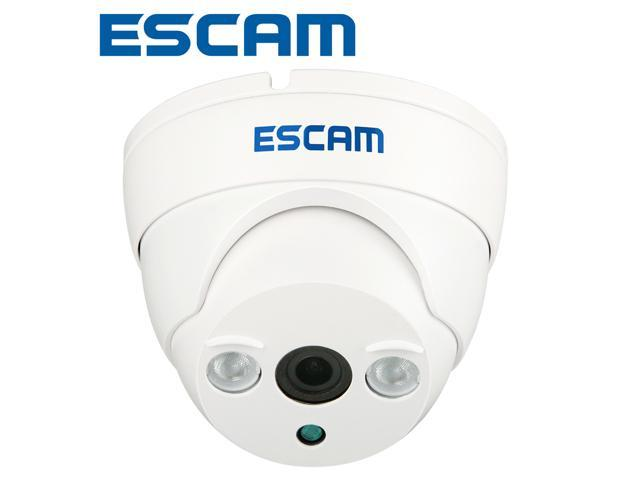 ESCAM 1.0 Megapixels 1280*720 ONVIF IR Day/Night Vision Wired HD Dome IP Camera P2P Plug/Play Security Surveillance CCTV Kamera Motion Detection ...