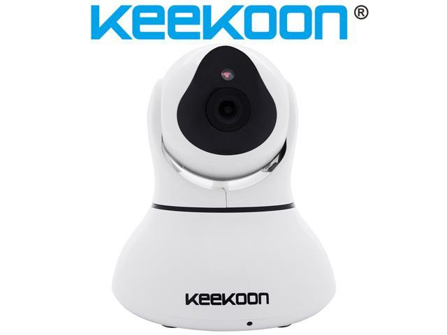 Keekoon® SmartCam Wireless IP Pan/Tilt/ Day/ Night Vision Internet Surveillance Camera HD with Wi-Fi Direct Setting Built-in Microphone and ...