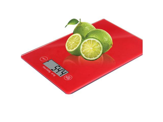 Touch screen electronic kitchen scale medicinal scale food scale digital display electronic scale (red)