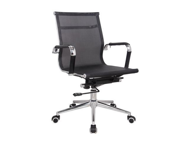 CLASSY AND SLEEK MEDIUM BACK MESH EXECUTIVE OFFICE CHAIR