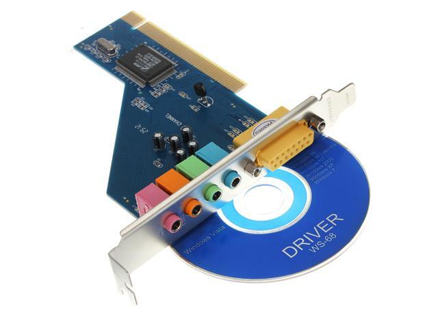 4 Channel C-Media 8738 Chip 3D Audio Stereo Internal PCI Sound Card Win7 64 Bit