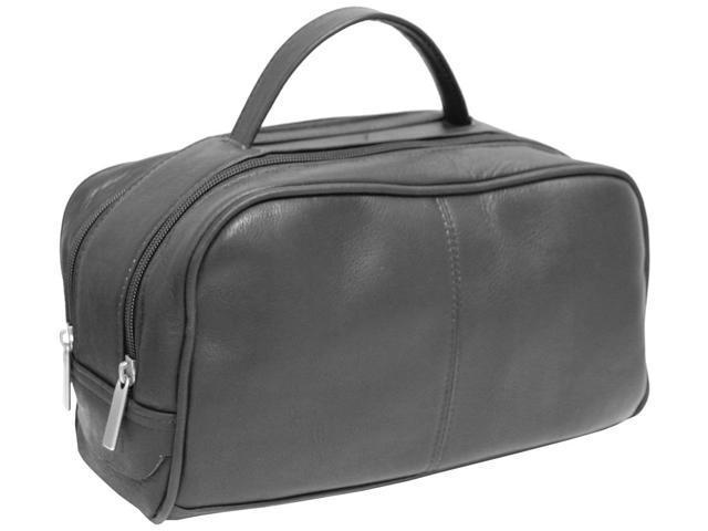 David King Leather Travel Toiletry Kit - Black