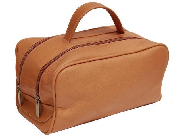 David King Leather Travel Toiletry Kit - Tan