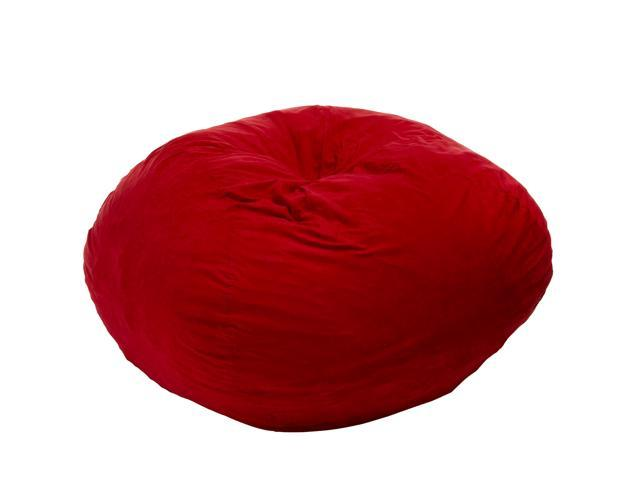 Madison Red Faux Suede 5 Foot Bean Bag