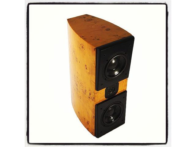 Acoustic Zen Adagio Junior Maple Burl Veneer Finish Bookshelf Speakers