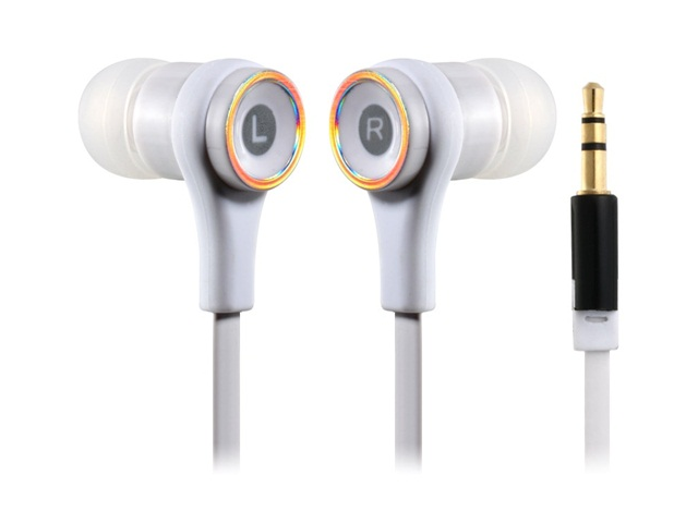 SMZ 610 Flat Cable In-Ear Headphone for iPhone 5, iPod Touch 5, iPod Nano 7, iPhone 4/4S, iPad 4