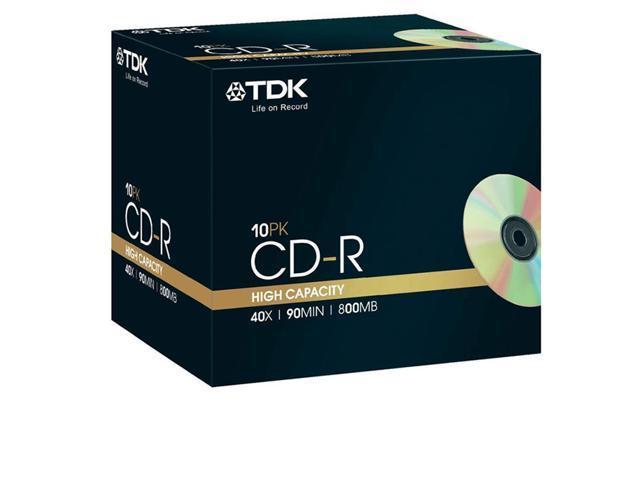 TDK CD-R 90 Pack 10 cdr recordable discs cd r 80min blank media