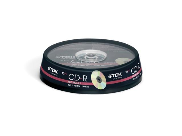 TDK CD-R 80 Spindle 10 CDR recordable discs cd r 80min blank media