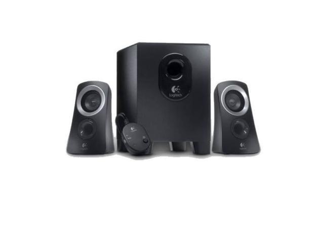 New Logitech Z313 2.1 Speaker System Audio Jack Wired Black