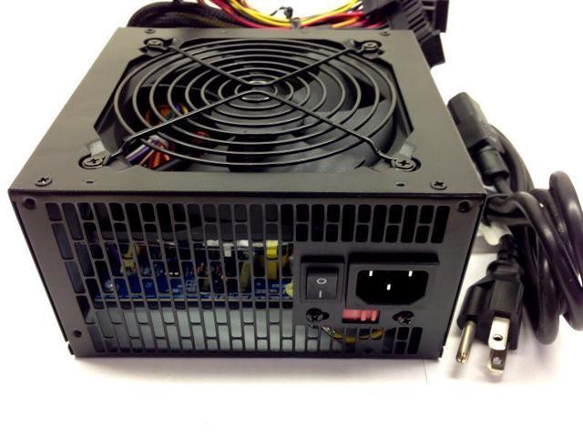 Quiet 700W Power Supply SATA PCI-E for PC ATX Computer PSU 120mm Fan (SaveMart)