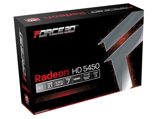 New Force3D ATI Radeon HD5450 PCI Express Video Graphics Card HMDI win7/vista/xp 2GB DDR3 (SaveMart)