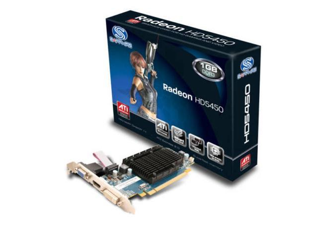 New Sapphire ATI Radeon HD5450 HD 5450 1GB PCI-E Video Card 100292DDR3L Low Profile (SaveMart)
