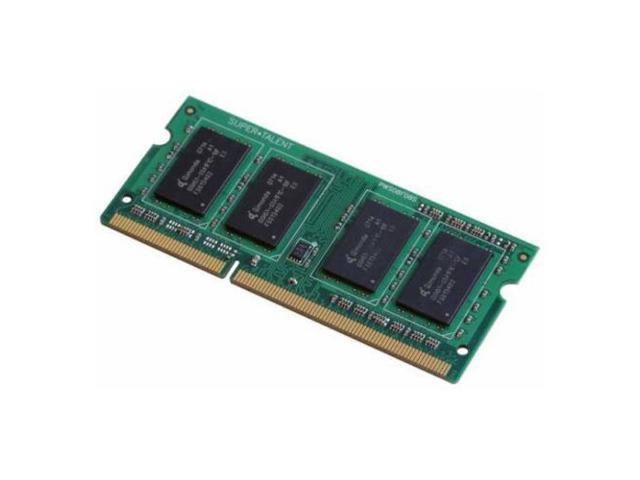 Super Talent 2GB DDR3-1066MHz 204 pin SO-DIMM 128x8 Notebook Memory