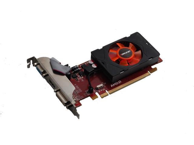 New AMD ATI PCI-E video card for Dell Optiplex HP Pavilion Slimline Low Profile 1GB
