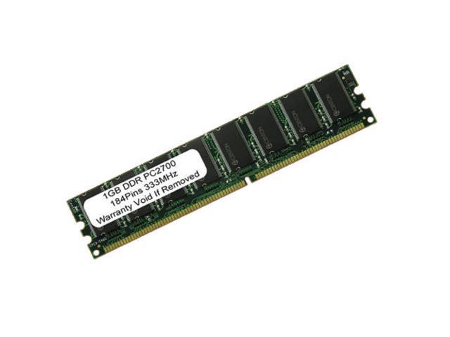 1GB PC2700 DDR-333MHz 184Pin DIMM UnBuffered LOW DENSITY MEMORY FOR DESKTOP
