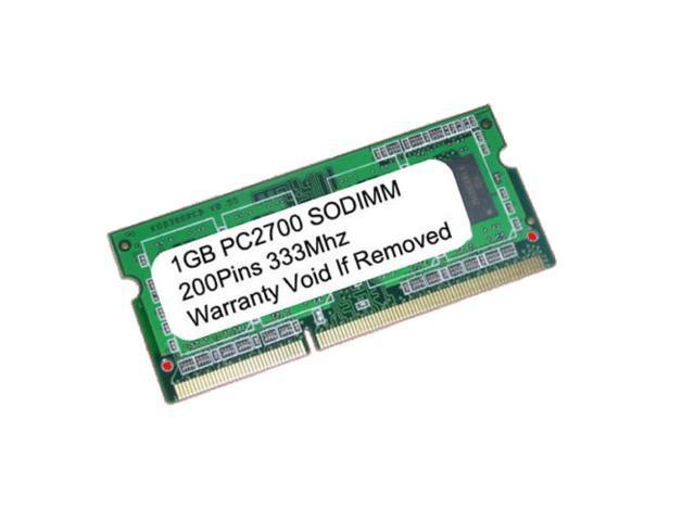 1GB PC2700 DDR-333MHz 200pin SODIMM UnBuffered LAPTOP MEMORY