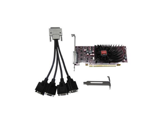 New Jaton Video Card AMD Radeon HD6570 1 GB DDR3 4VGA Low Profile PCI-Express 1GB(SaveMart)