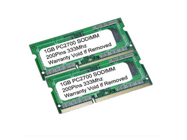 2GB (2X1GB) PC2700 DDR-333MHz 200pin SO-DIMM LAPTOP MEMORY