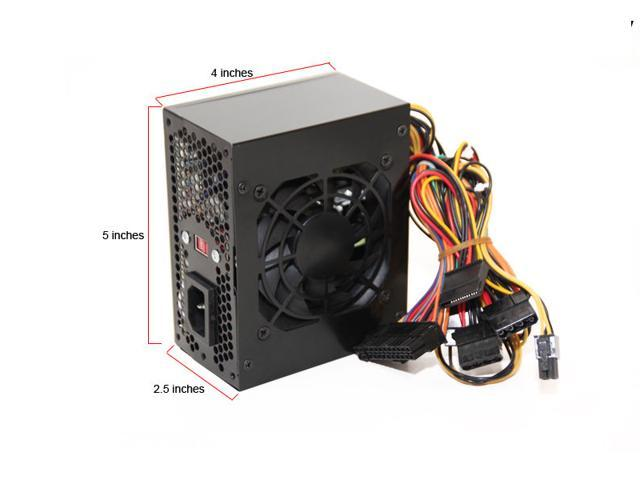 Black Hercules MicroATX 500W Silent Power Supply 20/24pin SATA (SaveMart)
