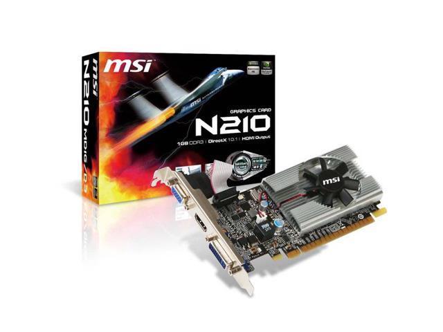 New MSI Video Card nVidia GeForce GT210 1 GB DDR3 VGA/DVI/HDMI Low Profile PCI-Express 1GB(SaveMart)