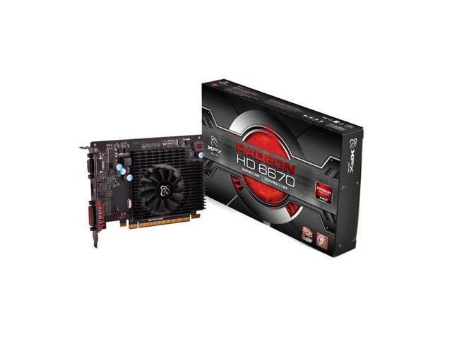 New XFX Video Graphics Card AMD Radeon HD 6670 GDDR3 1 GB VGA/DVI/HDMI PCI-Express 1GB(SaveMart)