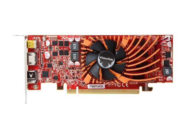 VisionTek AMD Radeon HD 7750 2GB 128-Bit DDR3 PCI Express 3.0 x16 CrossFireX Support Multi-Monitor 4K UHD Video Card(SaveMart)