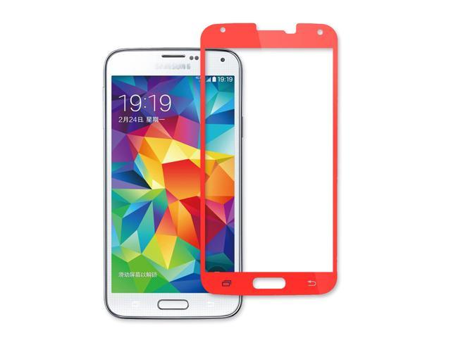 US Shipping Tempered Glass Film Screen Protector for Samsung Galaxy S5 i9600-Orange