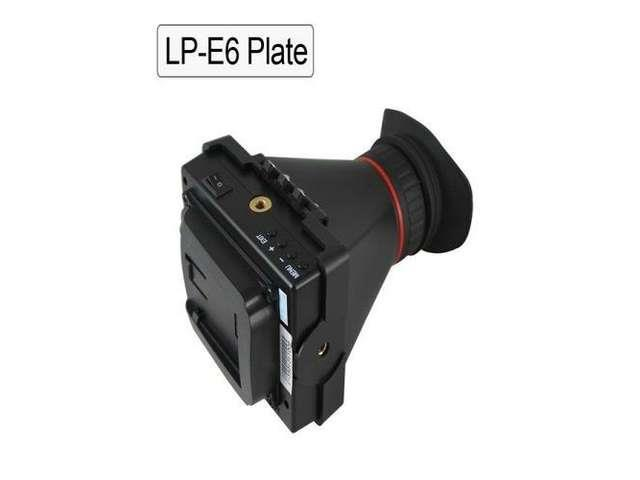 Vibob EVF 3.5'' LCD Screen Electronic Viewfinder for Camera Video Hdmi Lp-e6 Plate