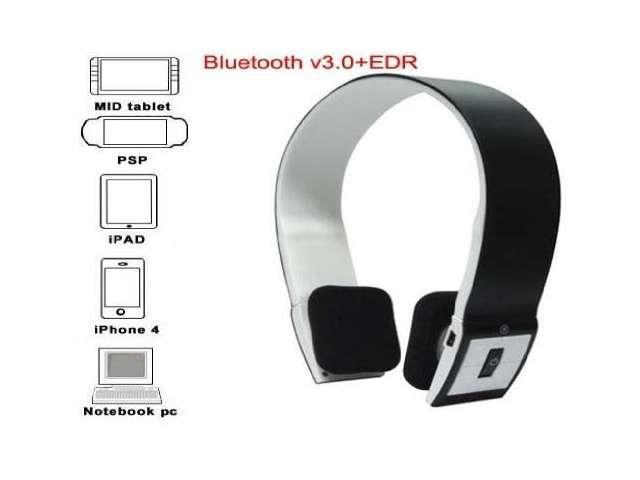 Vibob Bluetooth Stereo Headset with Microphone-in for Iphone 4/4s /Ipad 2 3 /Ps3 - Support Two Device At the Same Time Black