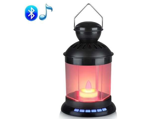 Vibob Black Cool Smart Bluetooth Wireless Lamp Portable Speaker for Cellphone Touch Light