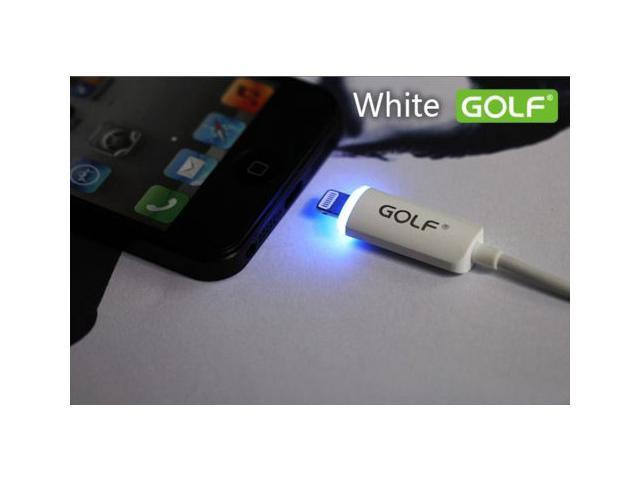 GOLF LIGHTNING LED DATA SYNC CHARGING UBS CABLE CORD for IPHONE 5 6 IPAD MINI White Color