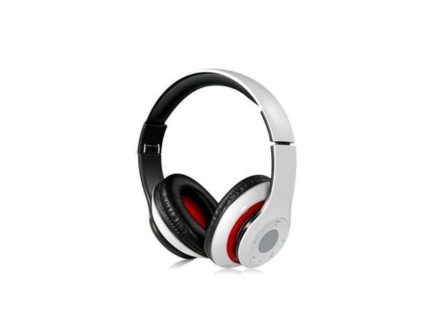 EB201 Foldable On-ear Wireless Stereo Bluetooth Headphones with FM & TF Card Reader (White)