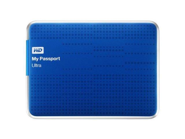 WD My Passport Ultra 500GB Portable External Hard Drive USB 3.0 with Auto and Cloud Backup - Blue (WDBPGC5000ABL-NESN)
