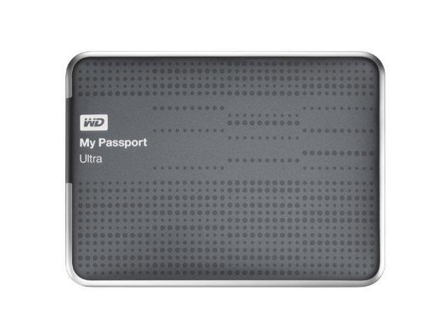 WD My Passport Ultra 500GB Portable External Hard Drive USB 3.0 with Auto and Cloud Backup - Titanium (WDBPGC5000ATT-NESN)
