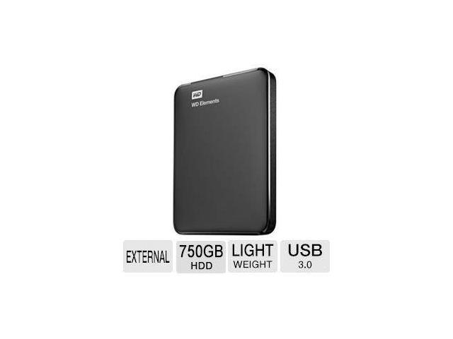 WD Elements 750GB Portable Drive