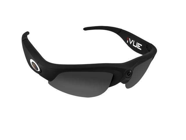 16GB iVUE HD 720P Action Camera Glasses Sport POV Video Recording DVR Eyewear (Black, 140° Wide Angle Lens)