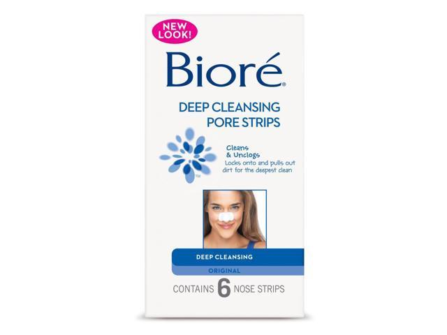 Bioré DEEP CLEANSING PORE STRIPS 6 ORIGINAL Nose Strips Cleans & Unclogs